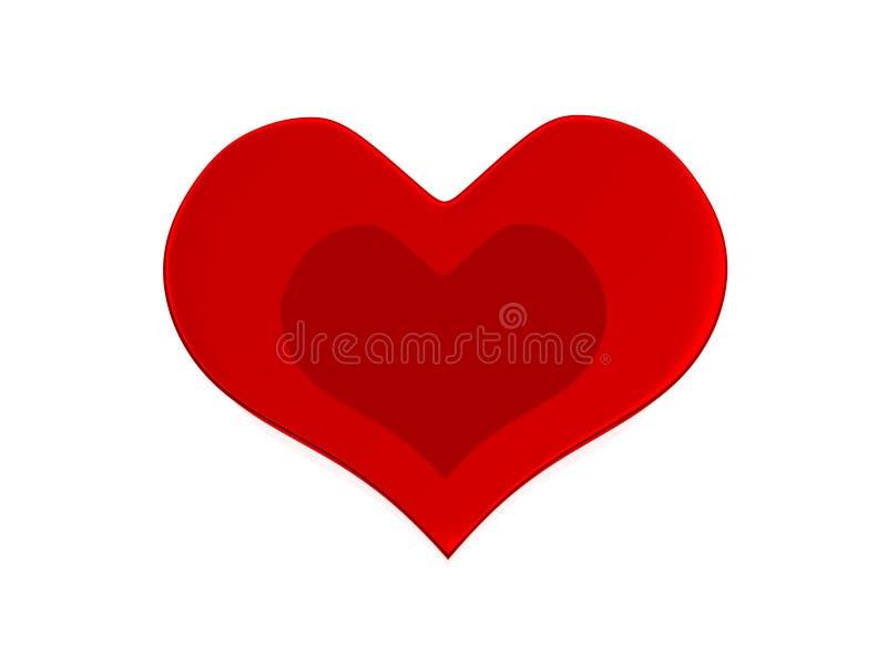 Cuore il giorno del biglietto di S. Valentino fotografia stock libera da diritti