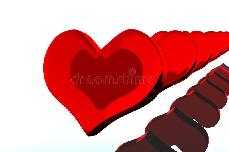 Cuore il giorno del biglietto di S. Valentino immagine stock libera da diritti