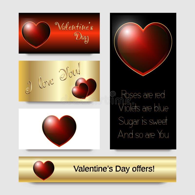 Cuore luminoso rosso, progettazione di carta di San Valentino royalty illustrazione gratis