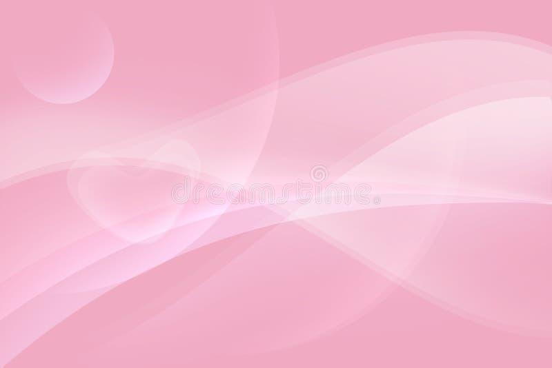 Cuore molle nel fondo astratto rosa immagini stock