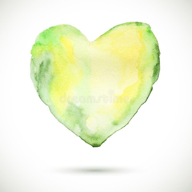 Cuore organico verde illustrazione di stock