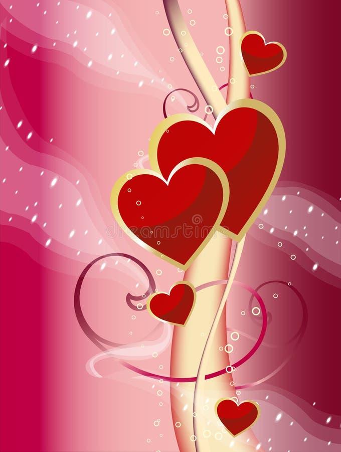 Cuore per amore illustrazione vettoriale