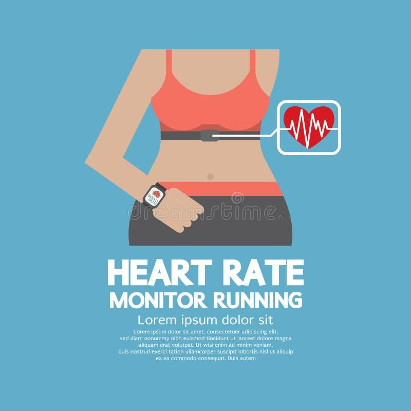 Cuore piano Rate Monitor Running di progettazione illustrazione di stock