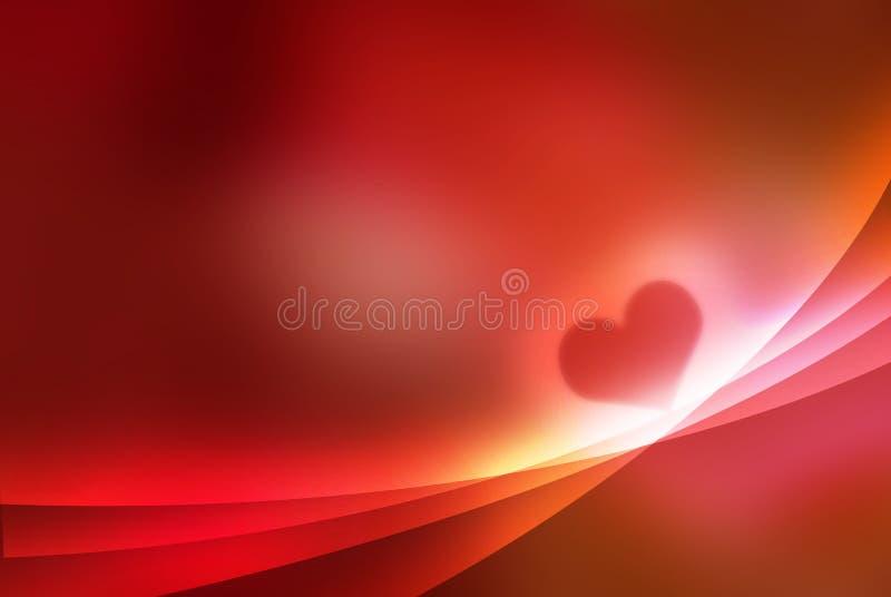 Cuore - priorità bassa astratta del biglietto di S. Valentino illustrazione vettoriale