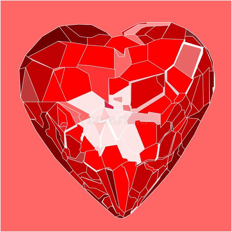 Cuore romantico di diamon illustrazione di stock illustrazione di artistico 23131158 - Tavolo cristallo rotto ...