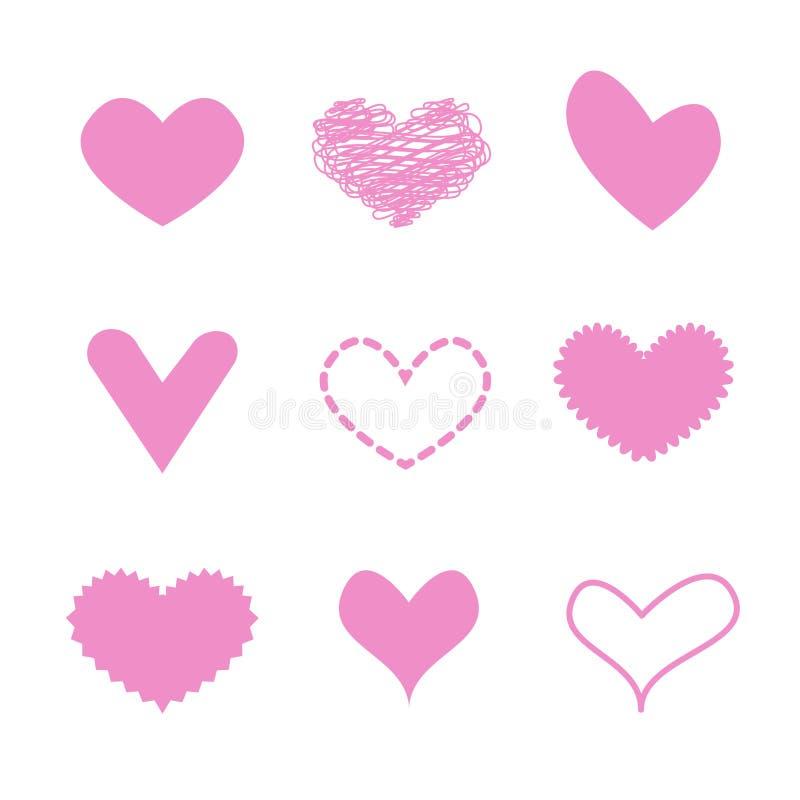 Cuore rosa di amore fotografie stock libere da diritti