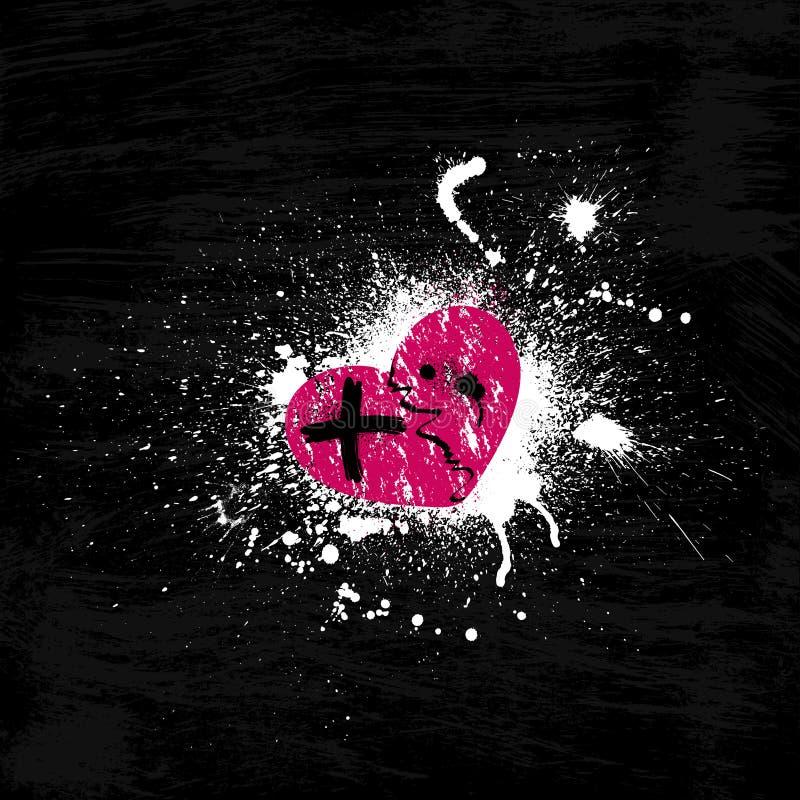 Cuore Rosa Di Lerciume Immagine Stock