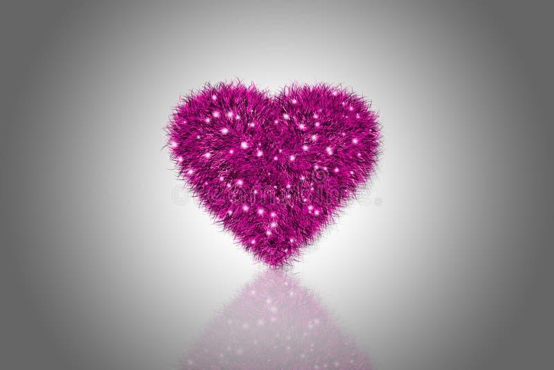 Cuore rosa lanuginoso royalty illustrazione gratis