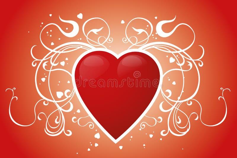 Cuore rosso illustrazione di stock