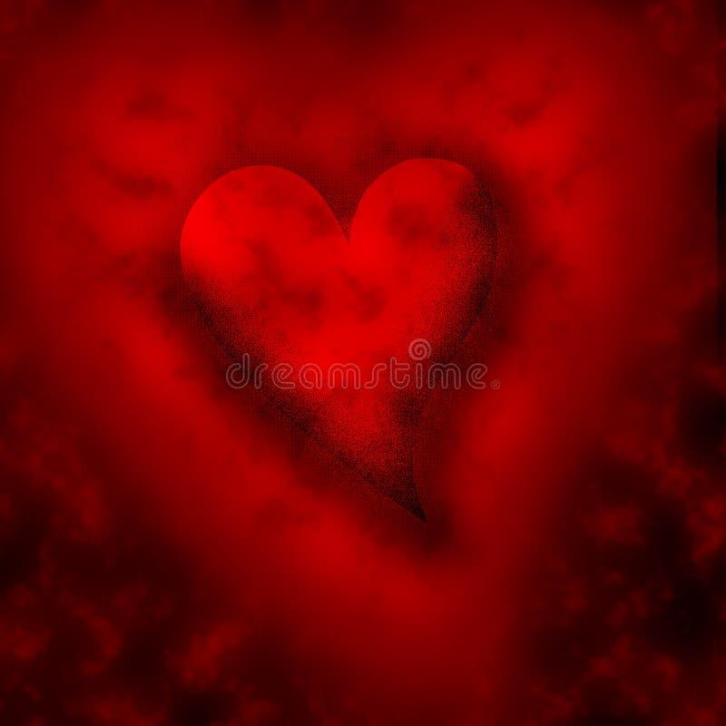 Cuore rosso illustrazione vettoriale