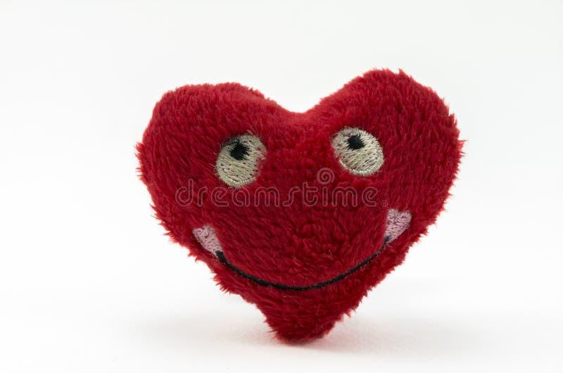 Cuore rosso della peluche fotografie stock