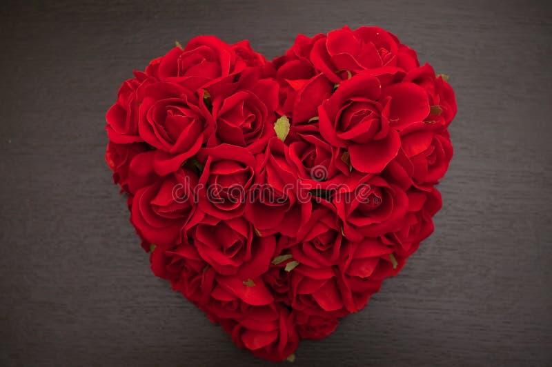 Cuore rosso delle rose immagini stock