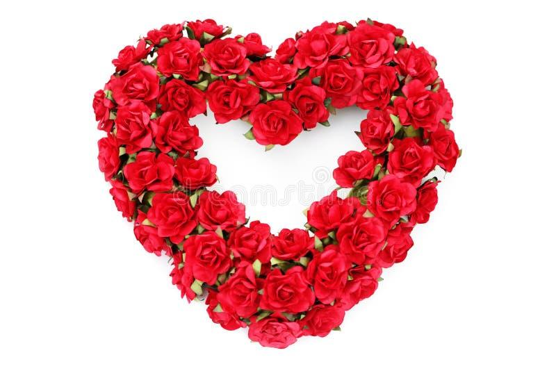 Cuore rosso delle rose fotografie stock