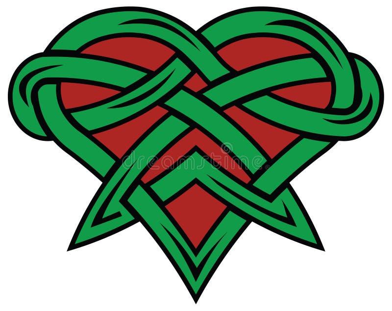 Cuore rosso e verde royalty illustrazione gratis