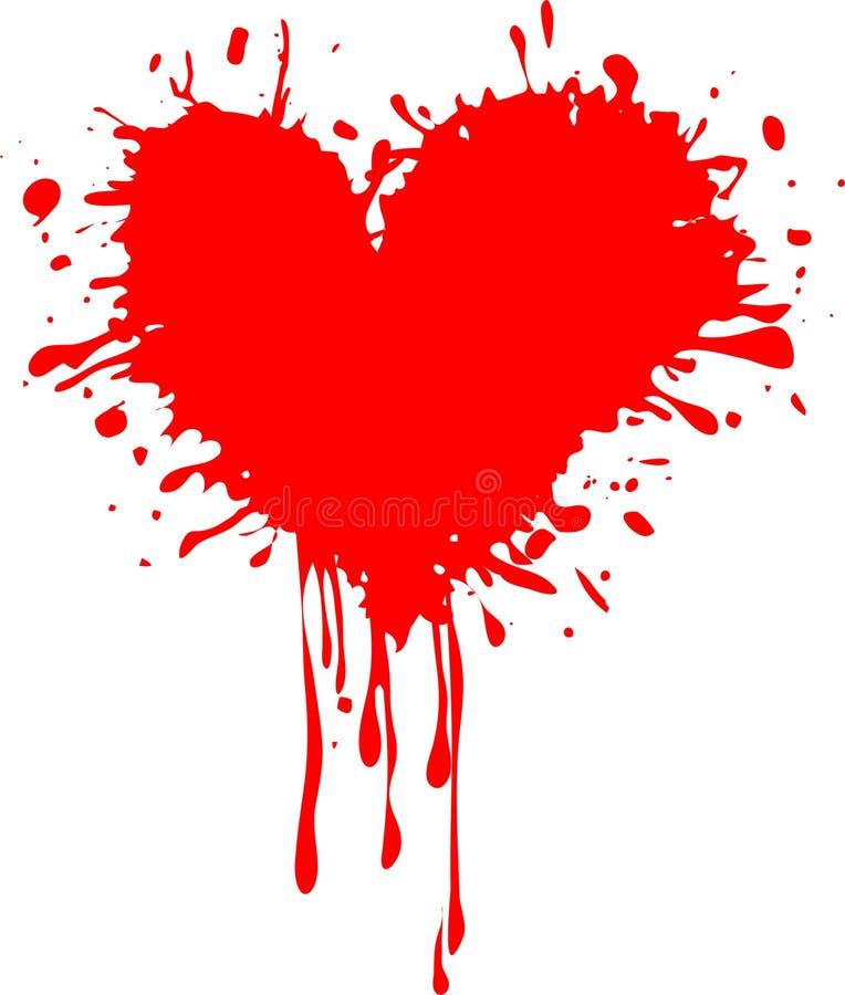 Cuore rosso sporco - giorno del biglietto di S. Valentino illustrazione vettoriale