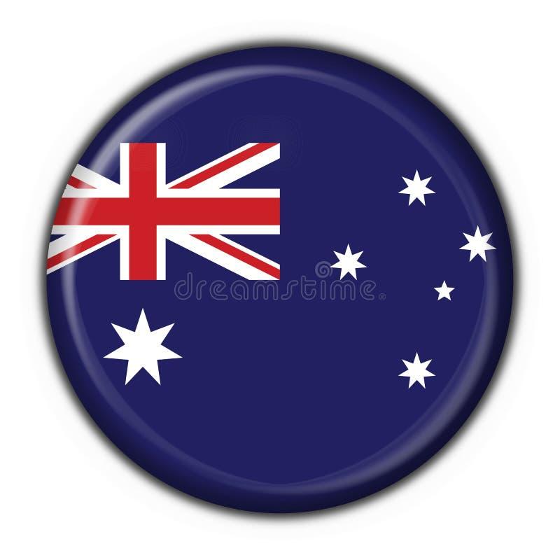 Cuore rotondo del tasto australiano illustrazione vettoriale