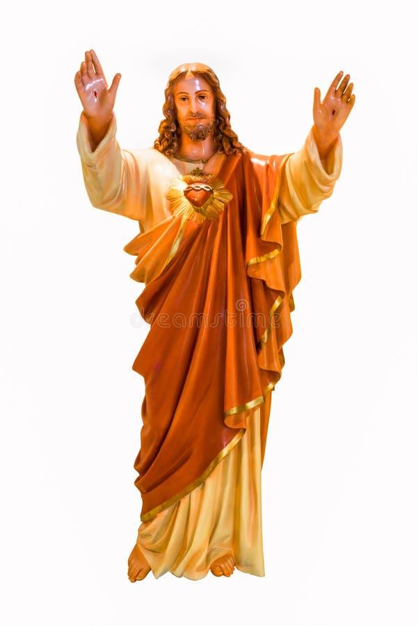Cuore sacro della statua del Jesus fotografie stock