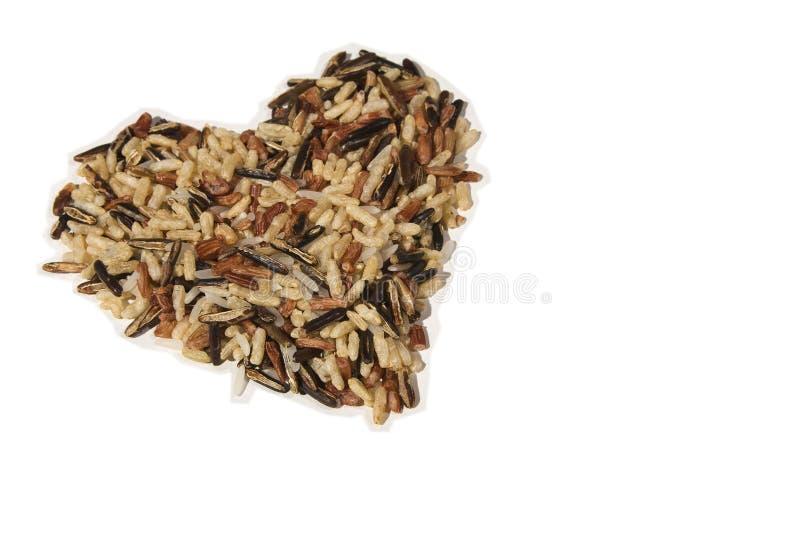 Cuore sano dei granuli sani fotografia stock libera da diritti
