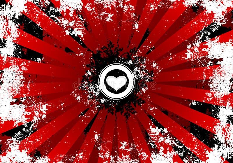 Download Cuore Sulla Priorità Bassa Rossa Del Grunge Illustrazione Vettoriale - Illustrazione di rappresentazione, amore: 3884822
