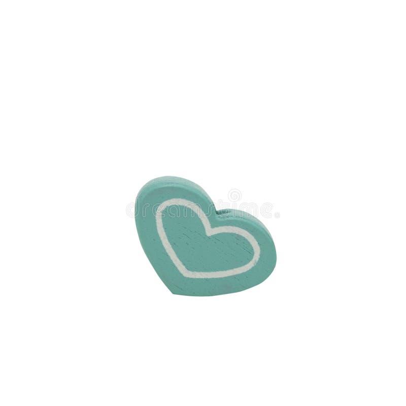 Cuore verde isolato su priorità bassa bianca fotografie stock libere da diritti