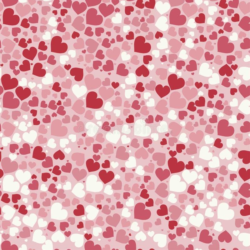 Cuori astratti di giorno del ` s del biglietto di S. Valentino Fondo senza cuciture per la vostra progettazione Illustrazione di  illustrazione vettoriale
