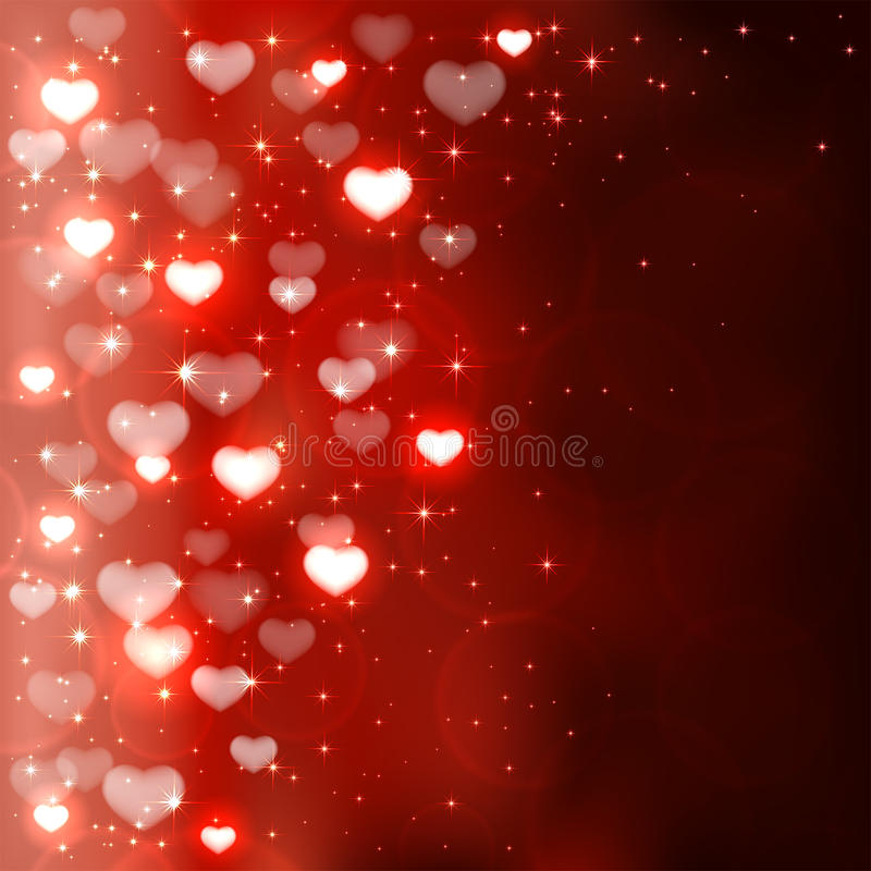 Cuori confusi dei biglietti di S. Valentino royalty illustrazione gratis