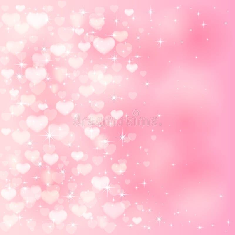 Cuori confusi su fondo rosa royalty illustrazione gratis