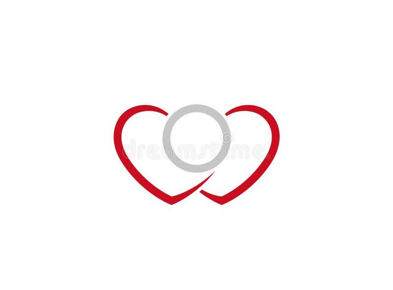 Cuori creativi Ring Logo illustrazione vettoriale