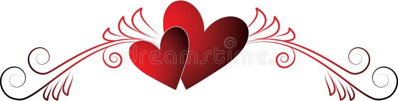 Cuori dei biglietti di S. Valentino illustrazione vettoriale
