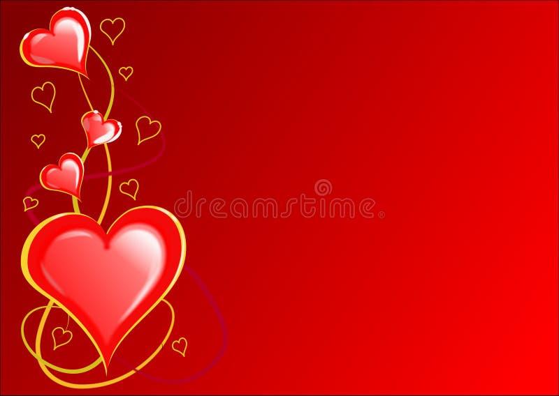 Download Cuori Dei Biglietti Di S. Valentino Illustrazione di Stock - Illustrazione di background, turbinii: 3881821