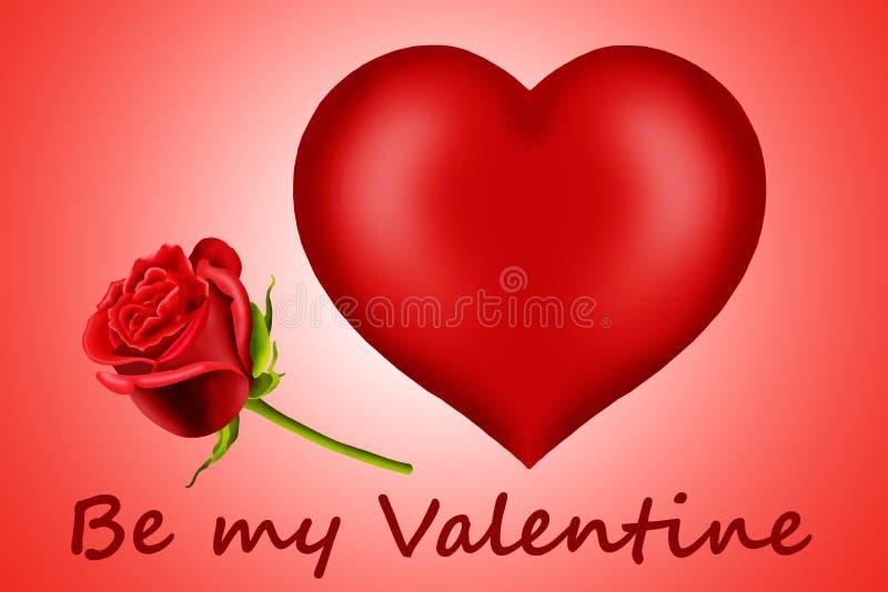 Cuori del biglietto di S. Valentino illustrazione vettoriale