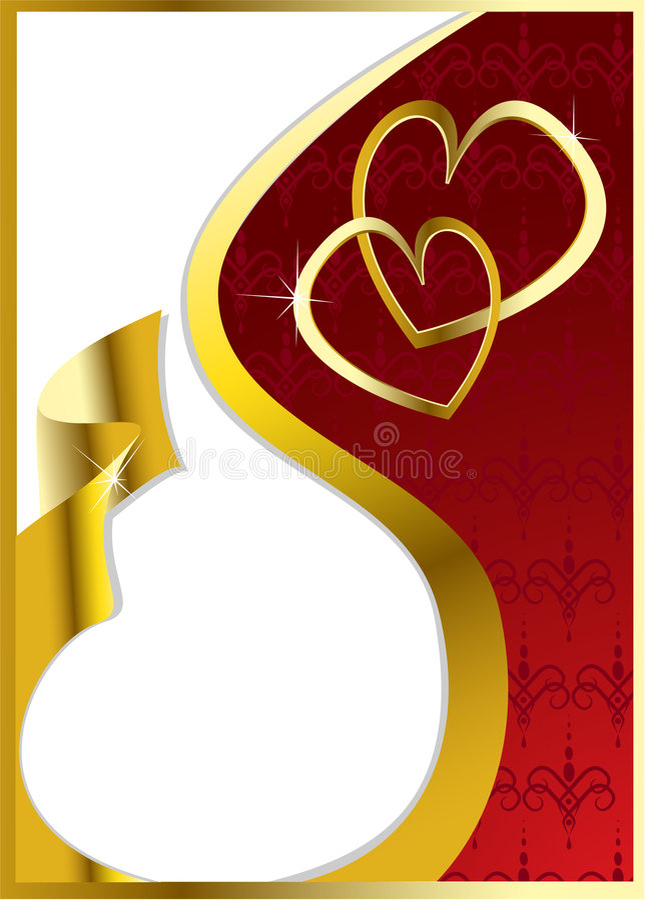 Cuori del biglietto di S. Valentino di vettore illustrazione vettoriale
