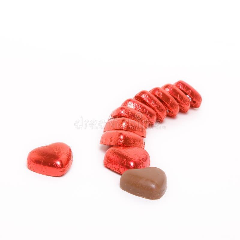 Cuori del cioccolato fotografia stock