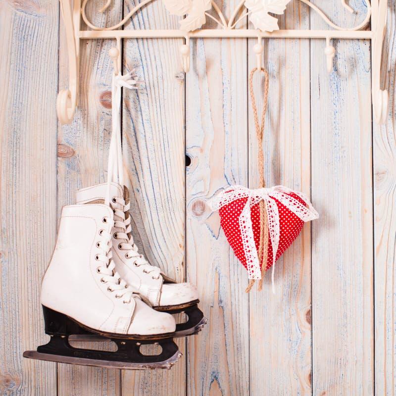 Cuori del feltro di Natale fotografie stock