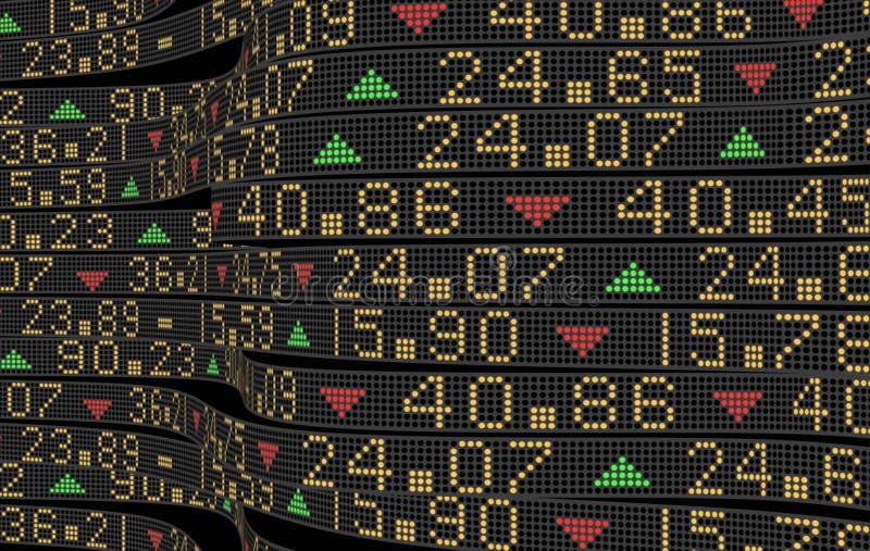 Cuori del mercato azionario illustrazione di stock