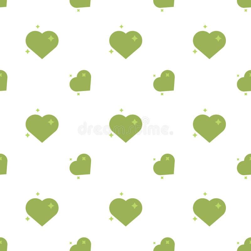 Cuori del modello senza cuciture di Eco di amore illustrazione di stock