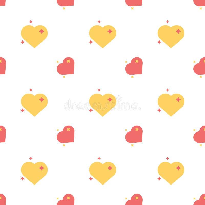 Cuori del modello senza cuciture felice di amore illustrazione di stock