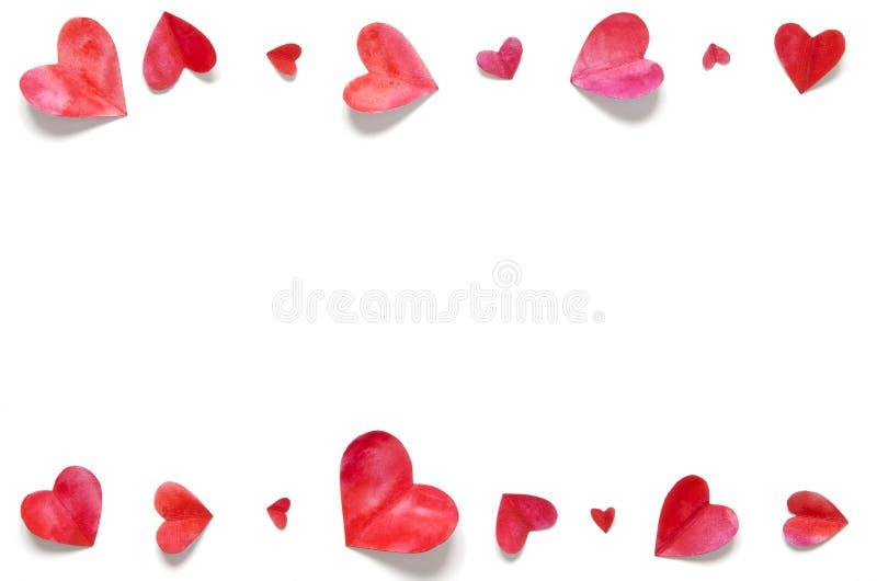 Cuori dell'acquerello Ami il concetto per il giorno del ` s della madre ed il giorno del ` s del biglietto di S. Valentino immagini stock libere da diritti