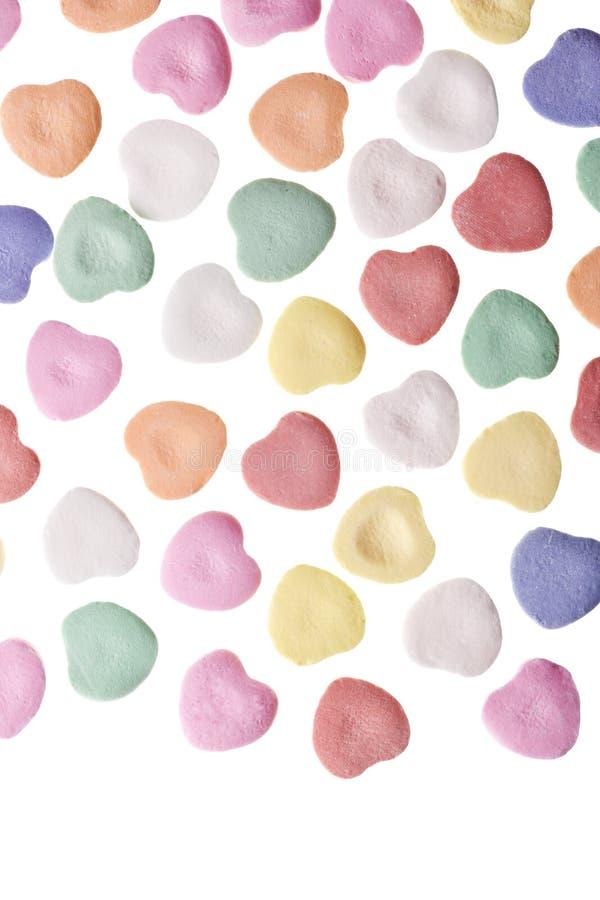 Cuori della caramella di giorno del biglietto di S. Valentino fotografia stock