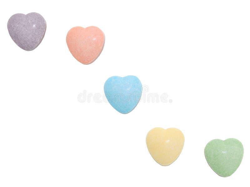 Cuori della caramella (immagine 8.2mp) immagine stock