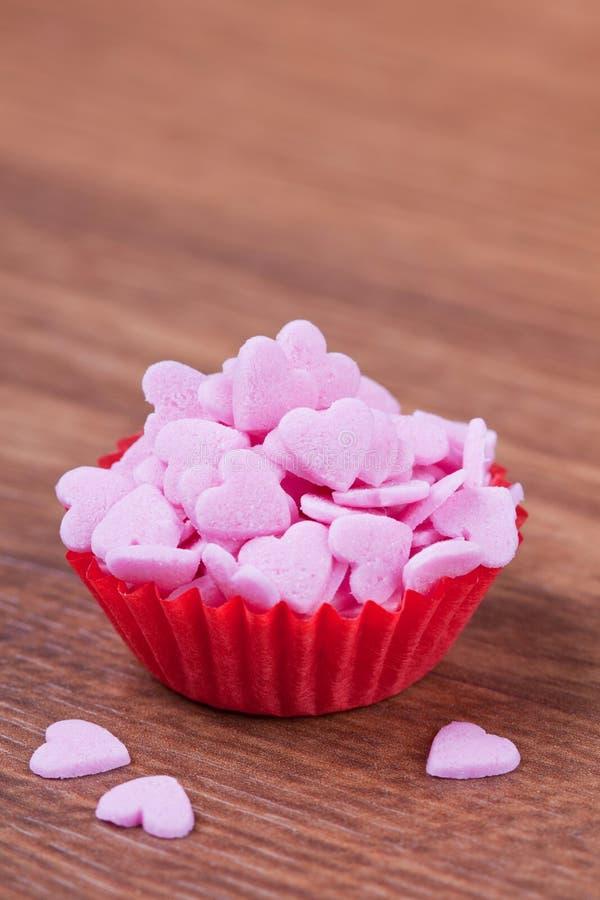 Cuori dello zucchero immagini stock libere da diritti