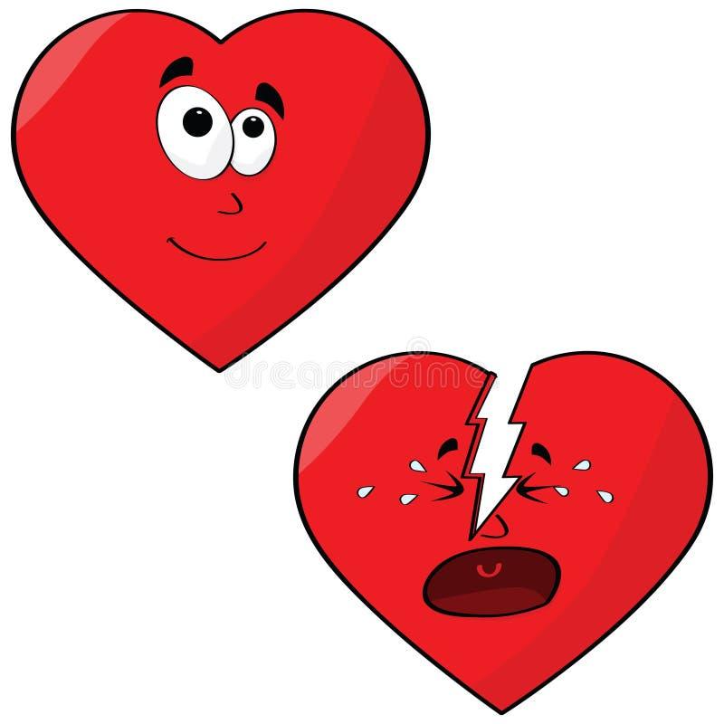 Cuori di amore illustrazione di stock