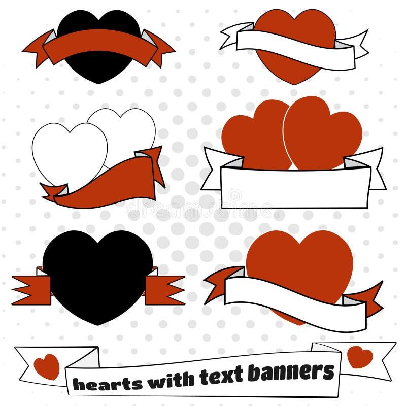 Cuori di amore con spazio in bianco per testo royalty illustrazione gratis