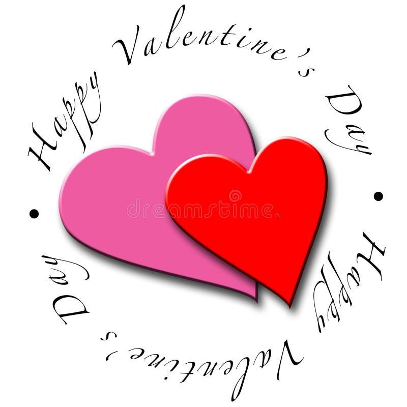 Cuori di giorno del biglietto di S. Valentino royalty illustrazione gratis