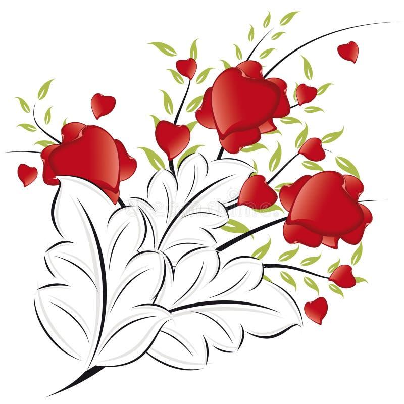 Download Cuori Di Giorno Del Biglietto Di S. Valentino Astratto Illustrazione Vettoriale - Illustrazione di cuore, ornate: 7323917
