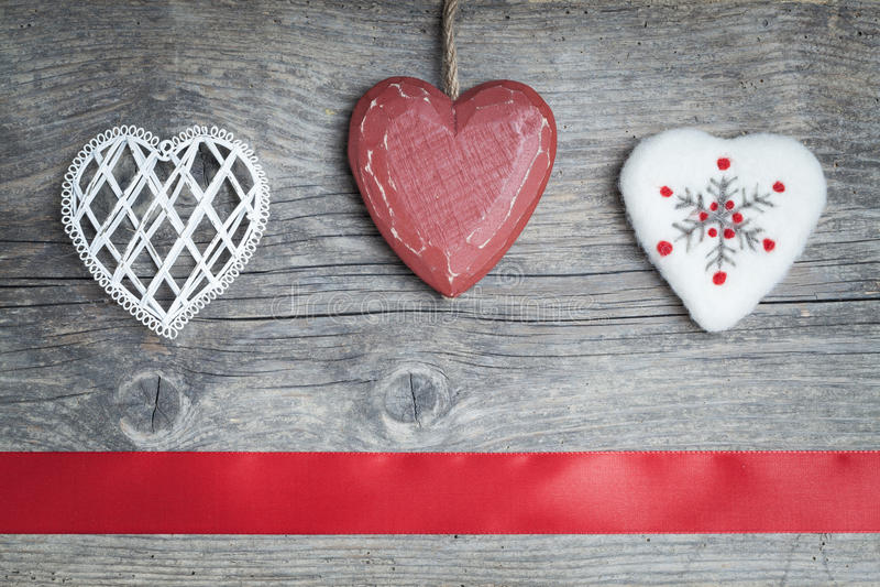 Cuori di Natale immagine stock libera da diritti