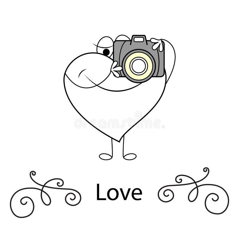 Cuori di scarabocchio di giorno di S. Valentino, carta, icona per il giorno di biglietti di S. Valentino illustrazione di stock