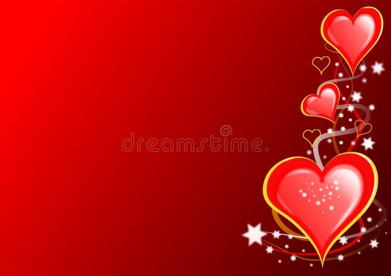 Cuori e stelle dei biglietti di S. Valentino illustrazione di stock