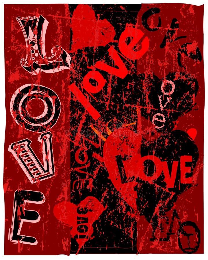 Cuori ed amore illustrazione di stock