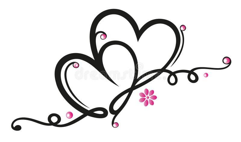 Cuori, fiori royalty illustrazione gratis